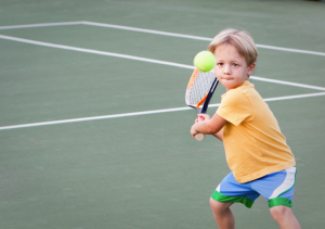 Młody tenisista